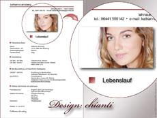 Bewerbung mit Design
