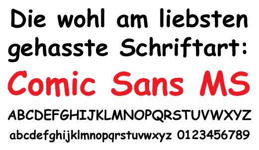 Comic Sans MS Hass