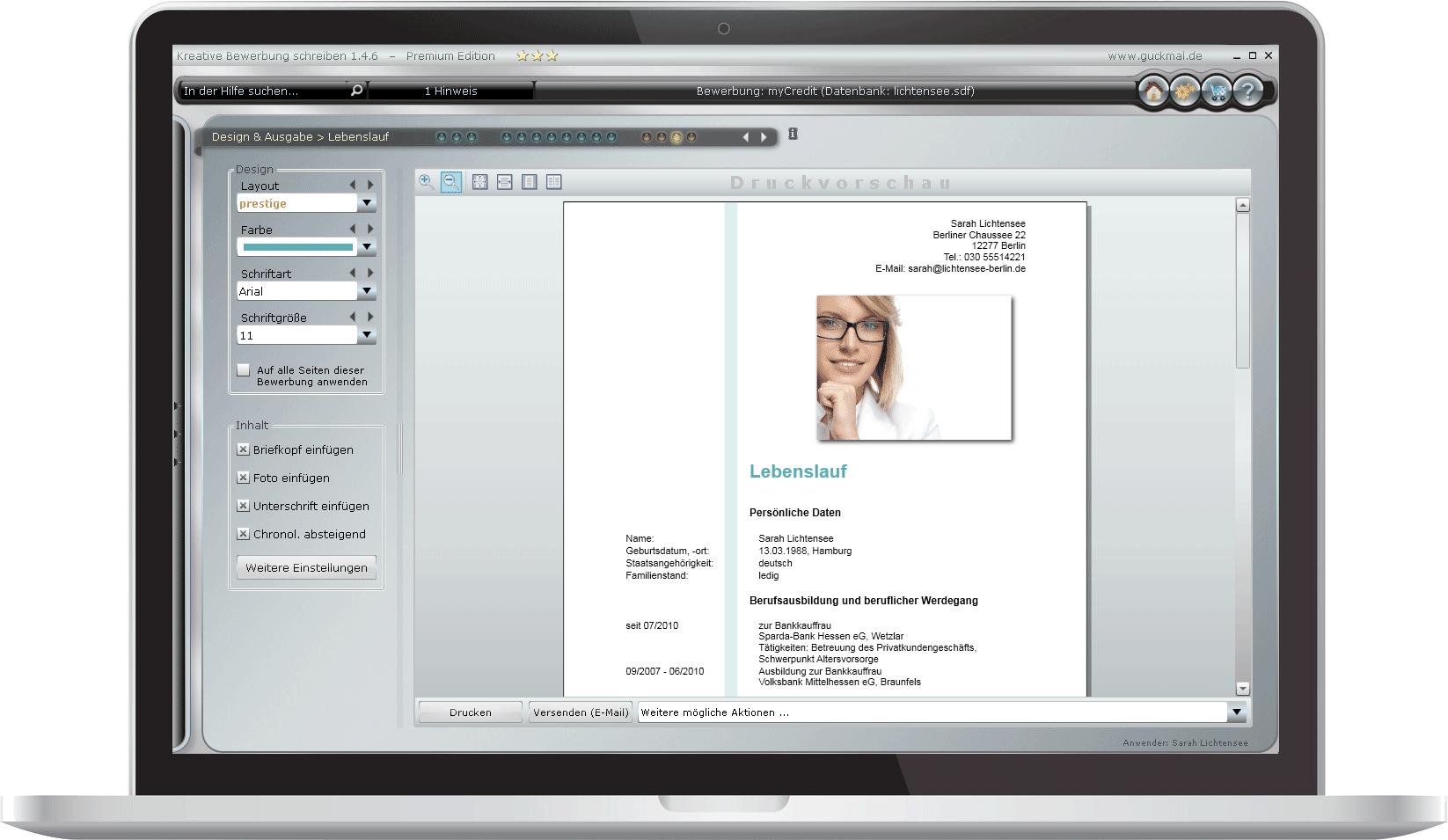 Bewerbungsprogramm Video Bilder