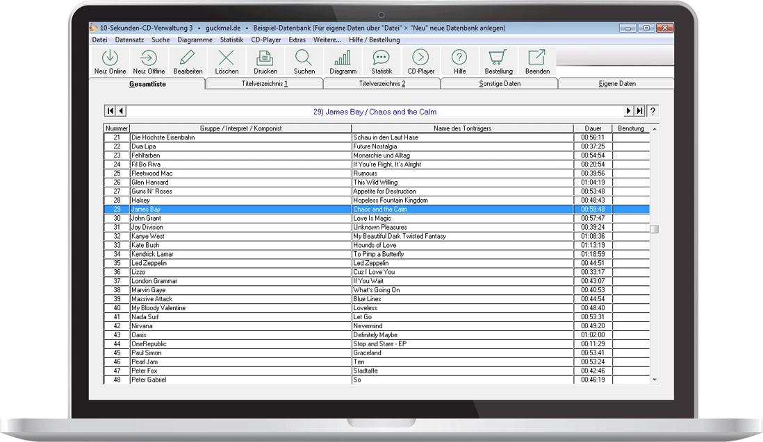 10-Sekunden-CD-Verwaltung: Software-Download